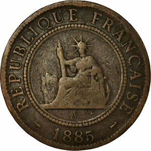 771932-Coin-FRENCH-INDO-CHINA-Cent-1885-Paris-VF-20-25-Bronze-KM-1