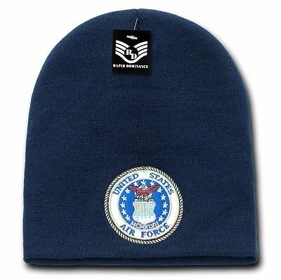 United States U.S. Air Force USAF Military Embroidered Beanie Skull Knit Cap Hat
