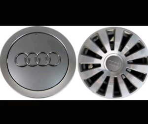 AUDI-4-x-145mm-Alufelgen-Felgendeckel-Nabenkappen-Silver-Wheel-Cap-4E0601165A