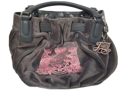 Juicy Couture Grey Velour Scottie Dog Purse