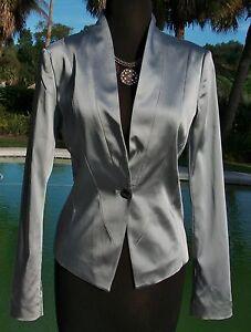Cache Taille Top Xs 2 Jacket Doublé s 4 0 188 Classique m 6 Silver Nwt Nouveau 8 Blazer rBIqFw5rx