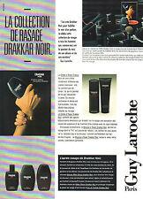 Publicité Advertising 1985  Parfum DRAKKAR NOIR de GUY LAROCHE