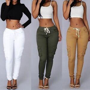 White high waisted jogger pants