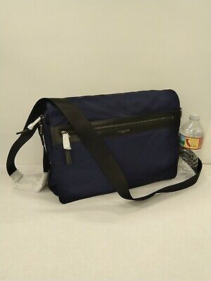 NWOT Michael Kors Men's KENT Large EW Zip Nylon Messenger Bag Indigo Blue $198 | eBay