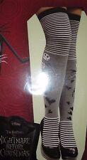 Disney NIGHTMARE BEFORE CHRISTMAS Jack Skellington Striped Over-The-Knee Socks