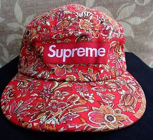 Image is loading VTG-Supreme-Floral-Camp-2012-Cap-Very-Rare- 0515a89ae38
