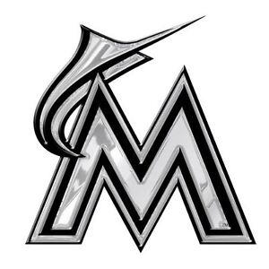 MLB-3D-Miami-Marlins-Auto-Chrome-Emblem-Decal-Sticker-Car-Truck-SUV-VAN