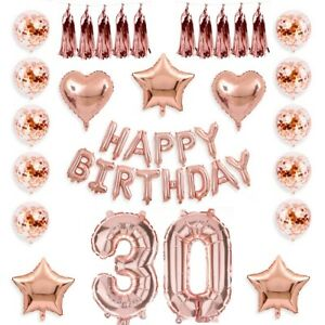18-21-30-40-50-60-Rose-Gold-Happy-Birthday-Bunting-Banner-Balloons-Party-Decor