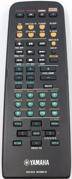 ORIGINAL YAMAHA REMOTE CONTROL RAV304 REPLACE RAV254  RX-V457 RXV450 HTR5750