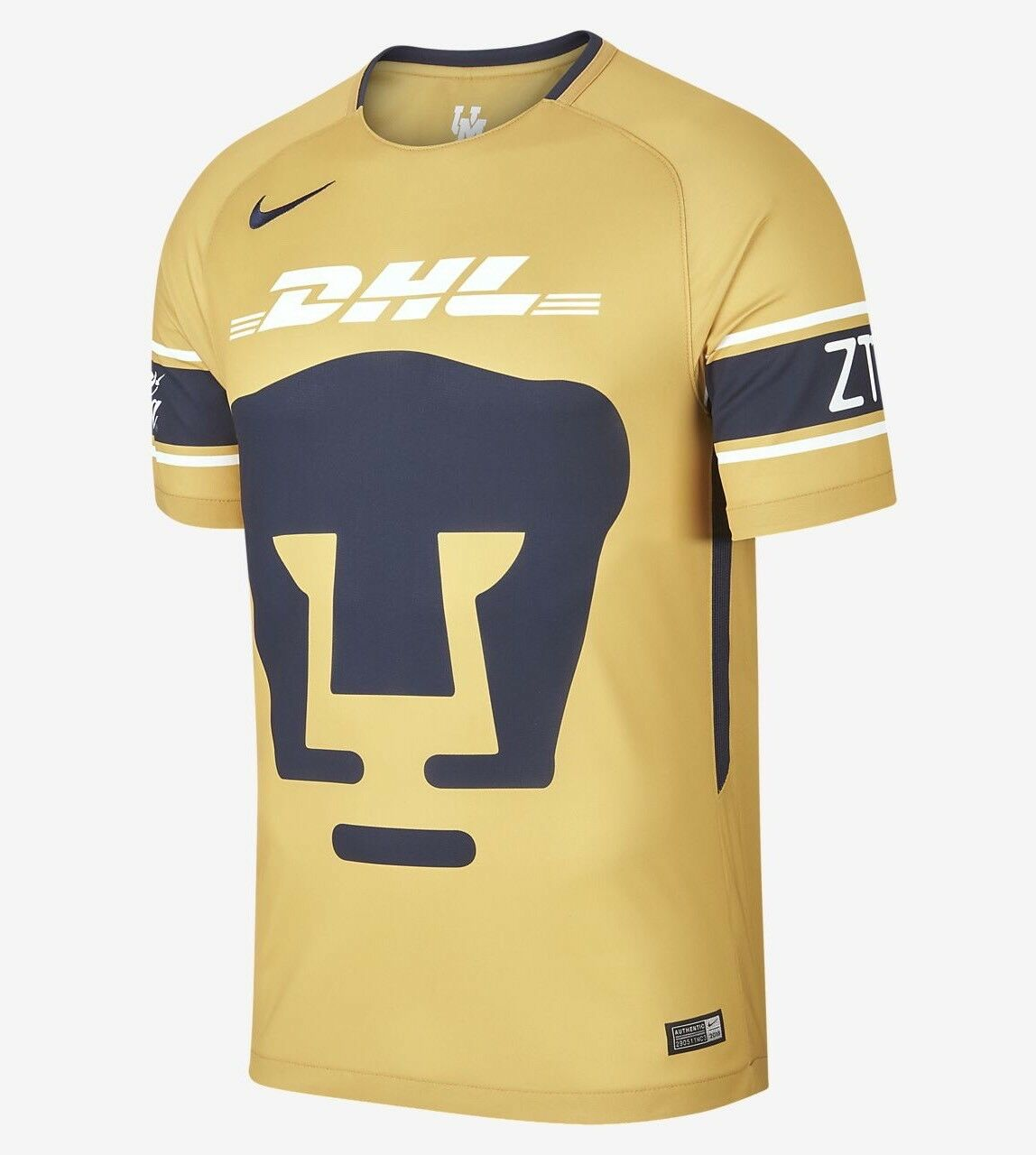 2018 19 A.C. Pumas Stadium Third Men's Football Shirt 847310-711 gold Size M New