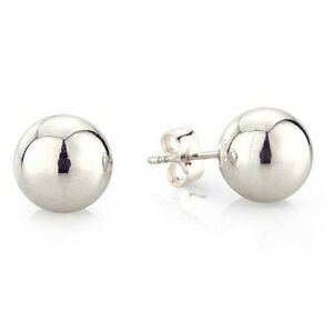 Bead Ball Earrings in Sterling Silver 2mm 3mm 4mm 5mm 6mm 7mm 8mm 9mm 10mm