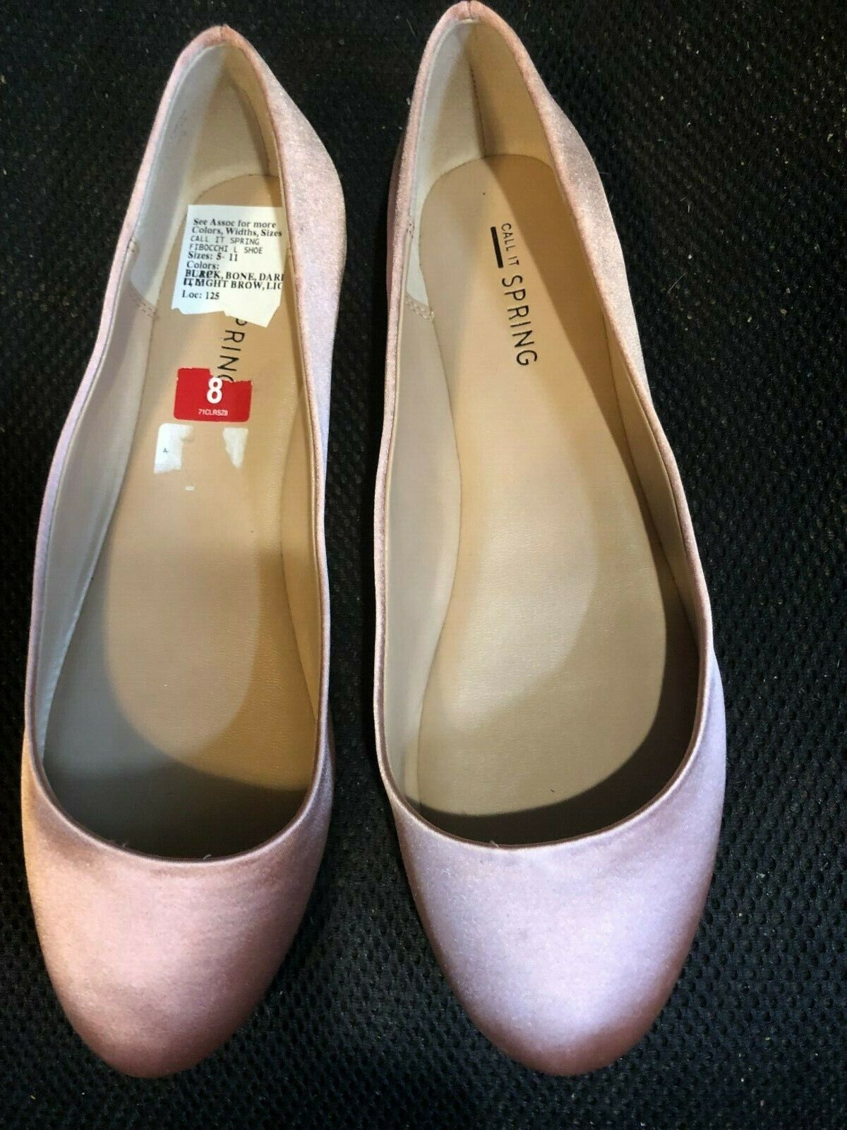 shoes, CALL IT SPRING, 1 8  heel (flats) pink pink sateen fabric, SZ 8 NEW