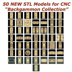 50-NEW-Backgammon-3d-STL-Models-for-CNC-Router-3d-Printer-Artcam-Aspire-Cut3d