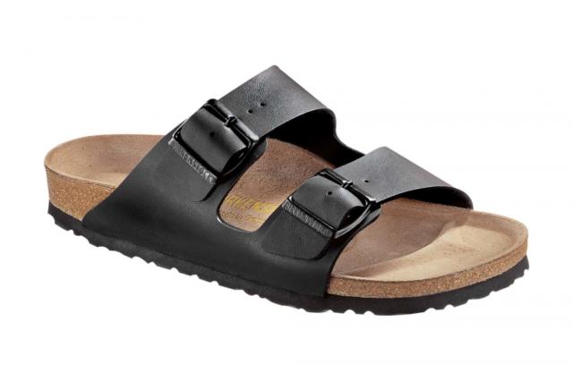 7d15124f5c10 Birkenstock Arizona Black Birko-flor Womens Leather Sandals 5 UK 38 ...