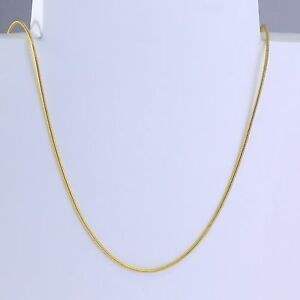 1mm-High-quality-18K-Gold-Stainless-Steel-Thin-Snake-Chain-Necklace-24-inches