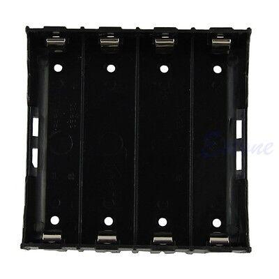 4x 18650 Black Li-ion Battery Storage Plastic Clip Holder Case Box 8 Pin Contact