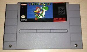 Super-Mario-World-Nintendo-SNES-Vintage-classic-original-retro-game-Cartridge