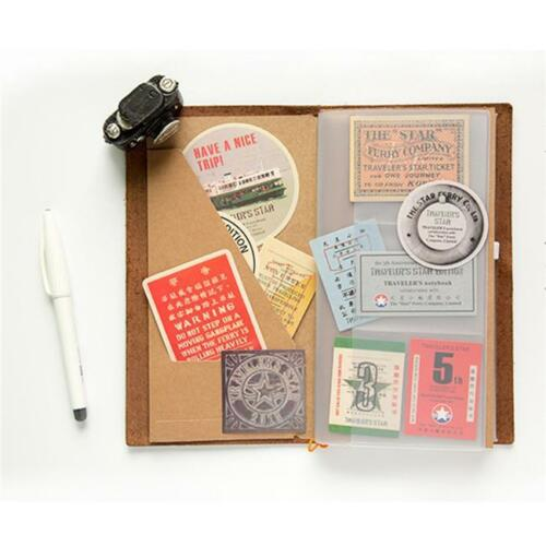 Sheet Stickers Scrapbooking Paper Vintage Retro Travel Stamps Stickers Set SO