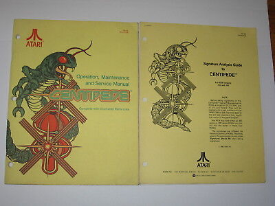 """Atari """" Centipede """" Operation & Service Manual,analysis Guide And Schematic Collectibles"""