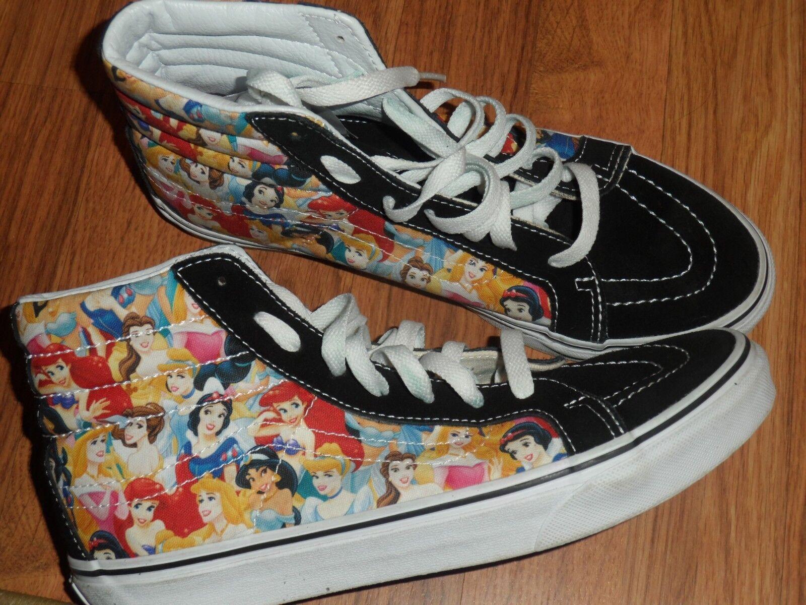 Men size 7.5 women 9   Disney princess  Vans shoes  EUC