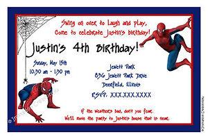 Customizable Spiderman Birthday Invitation I Create You Print