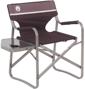 Astounding Details About Folding Camping Chair Camp Patio Beach Chairs Cup Holder Side Table Gray Brown Machost Co Dining Chair Design Ideas Machostcouk