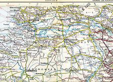 Rotterdam Maastricht Venlo Breda 1925 orig. Eisenbahn-Atlaskarte Tilburg Arnhem
