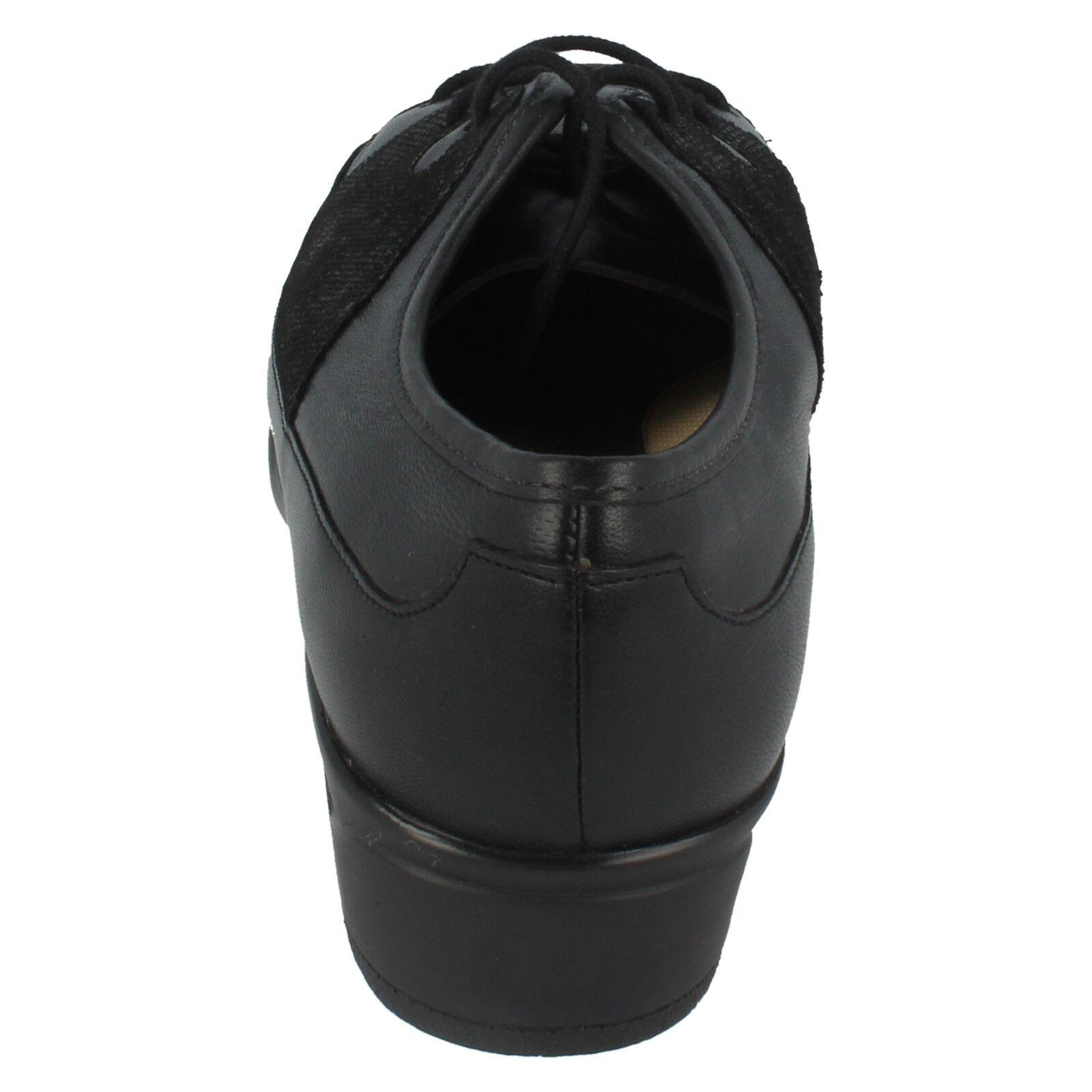 Equity Equity Equity Para Dama Negro Estrella ante estampado zapatos de Piel Con Cordones 7e62b6