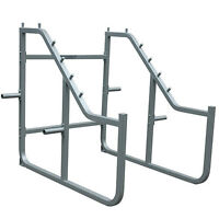 Champion Step Squat Rack-silver on sale