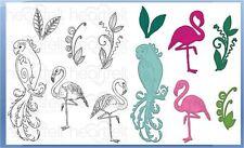 Heartfelt Creations Stamp & Die Combo ~ TROPICAL PARADISE Birds -3783, -7137