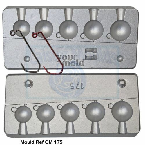4//0  Red or Nickel 5 Ball  Fishing Lure  mould VMC Jig Hooks 5150 size 3//0