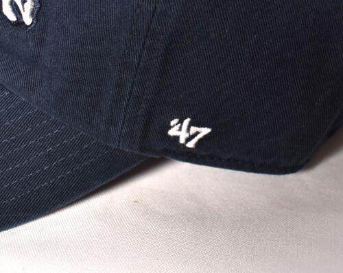 5 of 7 DENVER BRONCOS  47 Brand Clean Up Hat Cap Adjustable NFL Navy Forty  Seven   bc66459f2