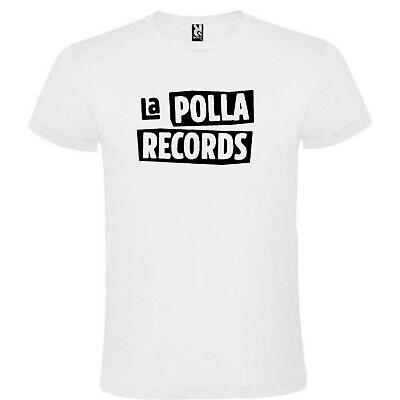 CAMISETA ROLY BLANCA La Polla Record LOGO HOMBRE ALGODÓN