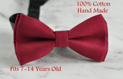 Father Son Match 100/% Cotton Handmade Matte Rumba Red Bow Tie Bowtie Wedding