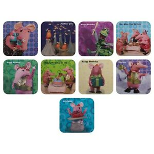 THE CLANGERS Birthday Card Range Granny Tiny Small Soup Dragon 16 cm x 16 cm