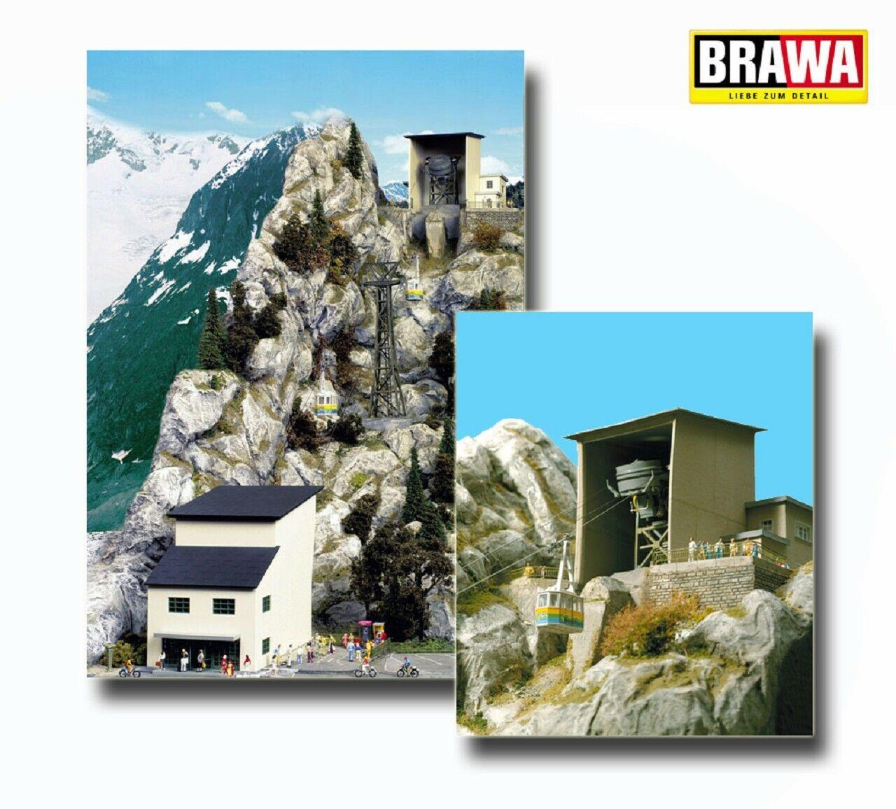 Brawa 6341 funicular-edificio kit niebla cuerno, montaña y teleféricos +++ nuevo en OVP