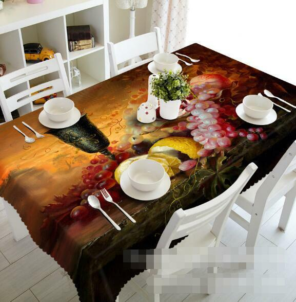 3D Various Fruits Tablecloth Table Cover Cloth Birthday Party Event AJ WALLPAPER