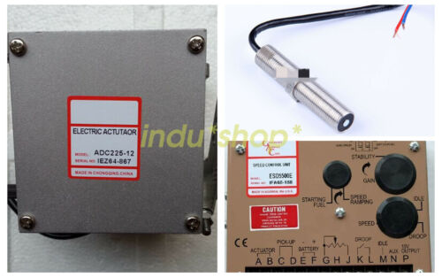 New ESD5500E Speed Controller ADC225-12V Actuator MSP675 Magnetic Speed Sensor
