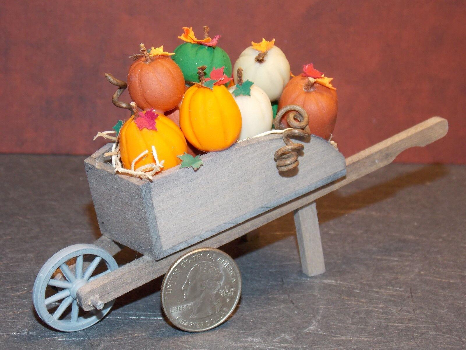 Casa de muñecas en miniatura Rueda Barrow otoño Calabazas C 1 12 escala F45 dollys Galería