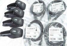 Lot Of 4 Symbol Ls2208 Black Handheld Usb Laser Pos Barcode Scanner New Cable