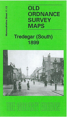OLD ORDNANCE SURVEY MAP NEW TREDEGAR 1899 ELLIOTS TOWN CRAIG BEDW TIR-PHIL