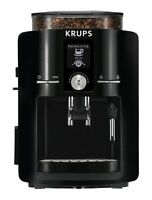 Krups Espresseria Coffee Maker, Automatic Espresso Machine + Burr Grinder, Black