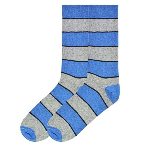 Blue K Bell Men/'s Recycled Cotton Stripe Crew Socks