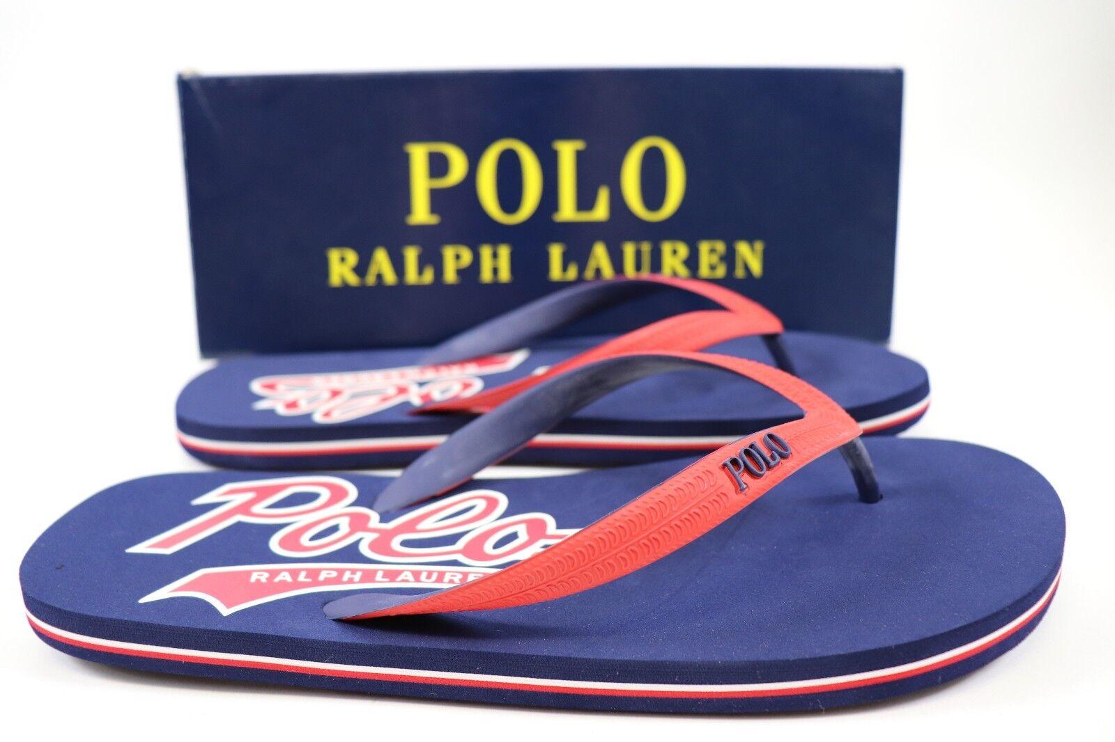 7b0b476b5 Ralph Lauren Size 12 Mens Navy Red Polo Whitlebury II Flip Flop ...