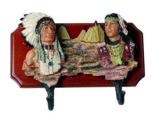 Patères indiens wandhaken parères crochet vestiaire western cowboy Indian