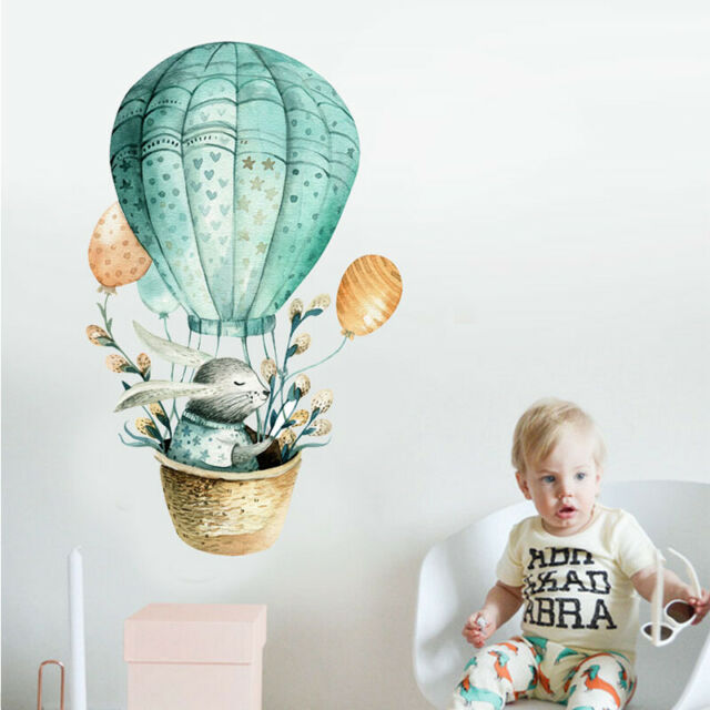 Cartoon Hot Air Balloon Pattern Wall Stickers for Kids Room Decor Wall StickerSe