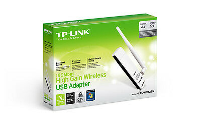 TP-Link TL-WN722N WiFi 150Mbps High Gain Wireless USB Adapter *NEW RETAIL*