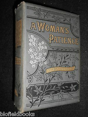 A Woman's Patience by Emma Jane Worboise - 1881 - Victorian Fiction, Novel HB