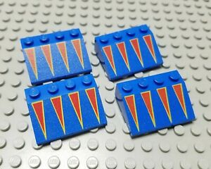 LEGO Lot of 4 Red 3x4 Roof Slope Pieces