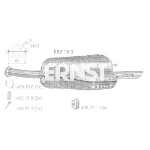 1 Endschalldämpfer ERNST 052153 passend für OPEL GENERAL MOTORS